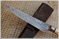 San Mai Damascus Integral Knife