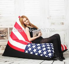 58.00$  Buy here - http://aliorw.worldwells.pw/go.php?t=1079969640 - free shoping  removable and washable lazy beanbag fashion zebra stripes lazybones leisure sofa