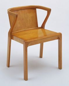 "Stacking Armchair  Alvar Aalto (Finnish, 1898–1976)    1929. Solid and laminated birch and plywood, 27 x 20 x 21"" (68.6 x 50.8 x 53.3 cm). Manufactured by Oy Huonekalu-ja Rakennustyötehdas Ab, Turku, Finland. Gift of Michael Whiteway"