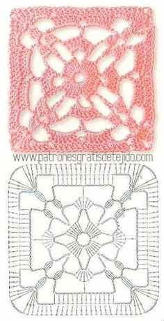 Transcendent Crochet a Solid Granny Square Ideas. Inconceivable Crochet a Solid Granny Square Ideas. Crochet Motif Patterns, Crochet Symbols, Crochet Blocks, Granny Square Crochet Pattern, Crochet Diagram, Crochet Chart, Crochet Squares, Crochet Granny, Crochet Stitches For Beginners