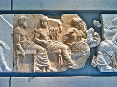 Frieze in the family-friendly Acropolis Museum in Athens