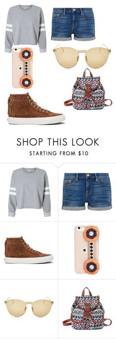 """""""first day of school"""" by mscalixte ❤ liked on Polyvore featuring Frame, Vans, Fendi and Illesteva"""