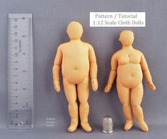 Plus Sized Man and Woman Cloth Doll Pattern Tutorial