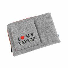 POKROWIEC I LOVE MY LAPTOP #laptopcover #macbookcover #schutzhulle #laptopschutzhulle