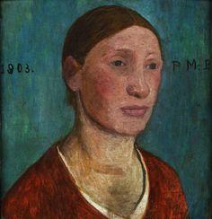 Campesina de rojo - 1903: Paula Modersohn-Becker