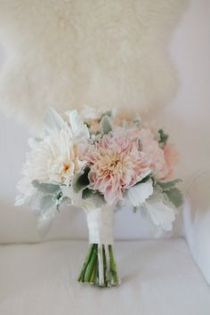 blush colored #dahlia #bouquet Photography: Jake and Necia Photography - jakeandnecia.com, Florals by http://www.adornmentsflowers.com