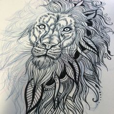lion mandala tattoo - Google Search