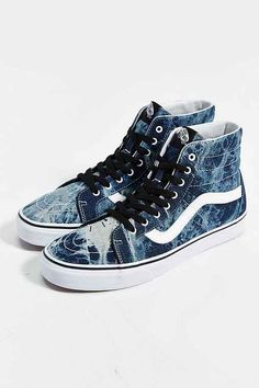 Vans High-Top Reissue Acid Wash Men's Sneaker Tenis Vans, Vans Sneakers, Vans Shoes, Converse Shoes High Top, Vans Sk8 High, High Top Vans, High Tops, Sock Shoes, Shoe Boots