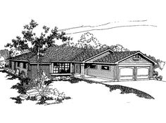 Cottage House Plan with 1491 Square Feet and 3 Bedrooms from Dream Home Source | House Plan Code DHSW07671