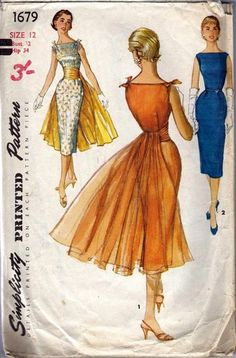 Vintage Simplicity Pattern For A Misses' Dress And Panel | eBay