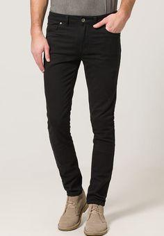 Bestill Farah DRAKE - Bukser - black for kr med gratis frakt på Zalando. Trousers, Pants, Drake, Corduroy, Black Jeans, Slim, Fitness, Casual, Free Delivery