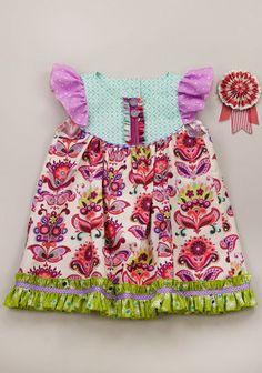 Burst Flutter Dress