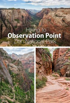 How to hike to Observation Point in Zion National Park, including the optional side trip to Hidden Canyon. This is one of the best hikes in Zion. Zion Hikes, Utah Hikes, Observation Point Zion, Nationalparks Usa, Voyage Usa, Utah Vacation, Dream Vacations, Spring Vacation, Vacation Ideas