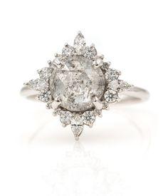 Rustic Diamond with Diamond Halo Burst - Audry Rose