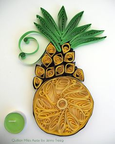 Project8: Passionate Fruits #quilling #art #quillingart #artist #jennytreeg #madebyme  #handmade #paper #colors #fruit #gift #present #pineapple