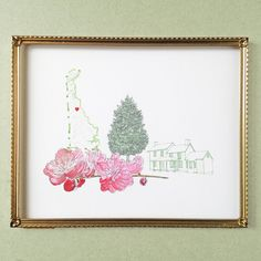 DELAWARE State MAP 8x10 Art Print State Tree by turnofthecenturies