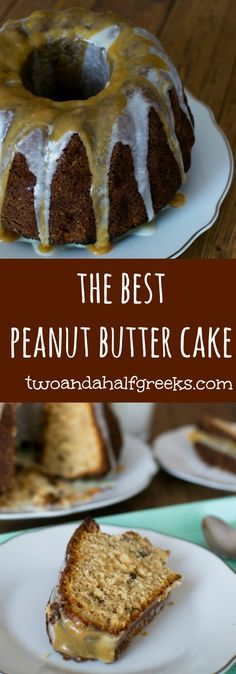 The best peanut butter cake you've ever tasted!