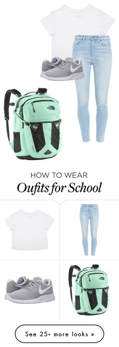 """First Day of School"" by madison-carter-ii on Polyvore featuring Paige Denim, NIKE and The North Face"
