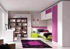 Dormitorio cama aro de 90x190 y cabezal corrido