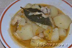 Картофель тушеный с куриным филе Potato Salad, Potatoes, Meat, Chicken, Ethnic Recipes, Food, Potato, Meals, Cubs