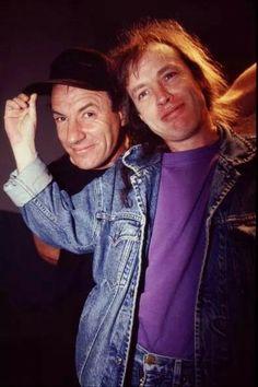 Angus Young and Brian Johnson (1995)