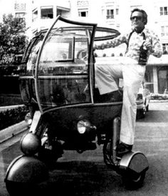 """Honey, I'm taking the Bubble Mobile to the disco!"" This wacky concept car from 1970s France was called l'Automodule. Designed by engineer Jean Pierre Pont"