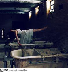 Self portrait in an abandoned mental hospital