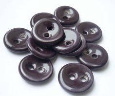 Eggplant Purple Ceramic Buttons by buttonalia on Etsy, $24.00