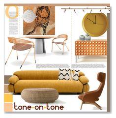 """Contemporary Gold."" by s-elle ❤ liked on Polyvore featuring interior, interiors, interior design, дом, home decor, interior decorating, Gervasoni, Artifort, Atipico и Örsjö"