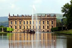 """Chatsworth House"" Derbyshire, UK used as Pemberley, Mr Darcy's home in 2007 Adaptation of ""Pride and ""Prejudice"""