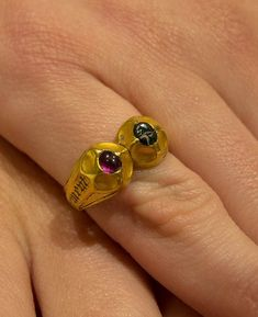 This late medieval marriage ring, unearthed by a metal detectorist last year in North Yorkshire, has been sold to London dealers Wartski for a five-figure sum after a private deal was negotiated by independent valuer Mark Littler. Renaissance Jewelry, Medieval Jewelry, Ancient Jewelry, Wiccan Jewelry, Old Rings, Antique Rings, Antique Jewelry, Unusual Jewelry, Modern Jewelry