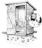 If you're establishing a homestead in a remote area, building an outhouse is something you'll probably want to do in short order. A properly managed privy is at least as healthful for people and land as a septic system. Building An Outhouse, Building A House, Outhouse Bathroom, Outdoor Baths, Modern Homesteading, Mother Earth News, Septic System, Homestead Living, Dark Ages