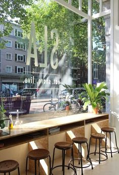 Ideas For Restaurant Seating Ideas Window Bars Restaurant Amsterdam, Deco Restaurant, Restaurant Design, Amsterdam Cafe, Restaurant Seating, Café Bar, Café Design, Design Ideas, Deco Cafe