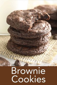 Brownie Cookies, Cookie Desserts, Easy Desserts, Dessert Recipes, Fun Recipes, Delicious Cookie Recipes, Brownie Recipes, Chocolate Recipes, Best Brownies