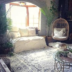 "9,296 Likes, 46 Comments - Hippie Vibes (@goodjujutribe) on Instagram: ""Love this cozy space via @blissfully_eclectic ✨"""