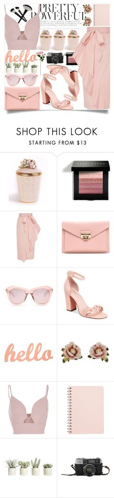 """""""#318"""" by vilte-m ❤ liked on Polyvore featuring Jay Strongwater, Bobbi Brown Cosmetics, Marysia Swim, Karen Walker, Avec Les Filles, Les Néréides, River Island and Allstate Floral"""