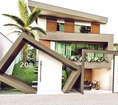 Aquela fachada diferente que a gente respeita, que tal? By Iara Rodrigues   Via @ideiasdiferentes ❤️✨ #decoredecor #grupojsmais…