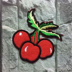 cherry patch Fruit patches Cherry Pineapple cute patch lovely patch cute Embroidery iron on sew on patch(A173