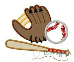 Baseball Applique - 3 Sizes! | What's New | Machine Embroidery Designs | SWAKembroidery.com Dollar Applique