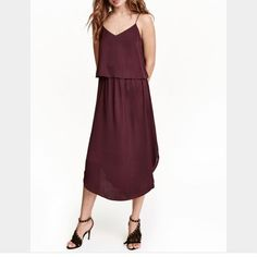 Satin Maroon Dress (Nwt) Never Worn!!!