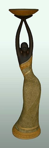 This page features African American figurines and statues that are also candle holders and votive holders. We offer several different lines including Essence of Africa, faux bronze figurines, Precious Ties, Elegant Dancer, and Ebony Elegance. African American Figurines, African Figurines, African American Art, Black Girl Art, Black Art, Monogram Wine Glasses, African Paintings, Arte Tribal, Stained Glass Crafts