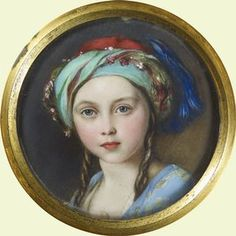 Victoria, the Princess Royal (1851). A miniature by William Essex, commissioned by the Queen and presented to Prince Albert.