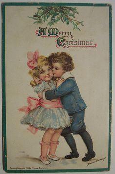 Vintage Christmas Postcard   par riptheskull