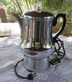 Beautiful Faberware A 12 Chrome Electric Percolator 12 Cup Coffee Maker