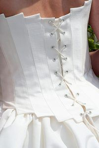 Corsets are popular in wedding dresses.