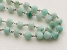 WHOLESALE 5 FEET Blue Opal Faceted Rondelle Beads by gemsforjewels
