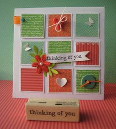 Could use your pretty paper scraps up on this type of card, great ideas here!!