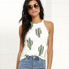 *All you need is this sweet little CACTUS Tank ADORABLE! *Please allow 3-4 weeks for delivery.