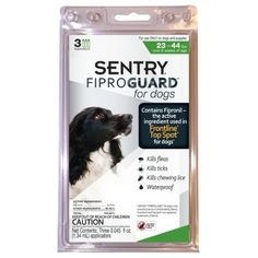 SENTRY Fiproguard Squeeze-On for Dogs, 23-44 lbs -- Read more reviews of the product by visiting the link on the image. (This is an affiliate link and I receive a commission for the sales)