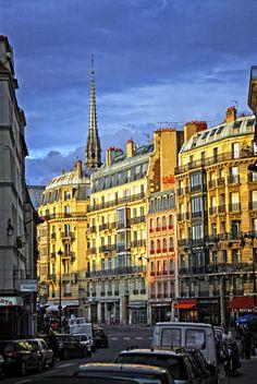Sunset Light in Paris, France
